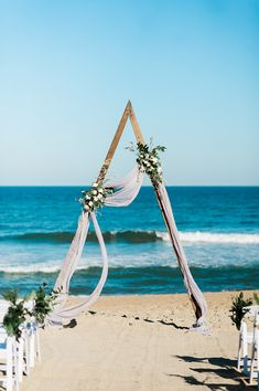 Real Wedding: Shannon + Lee :: Intimate North Carolina Beach Wedding|a&bé bridal shop Small Beach Weddings, Real Weddings, Romantic Weddings, Summer Weddings, Beach Ceremony, Ceremony Arch, Wedding Photo Pictures, Wedding Backdrop Design, North Carolina Beaches