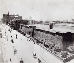 5th Avenue looking southwest from 42nd Street showing the Croton Reservoir June 1899