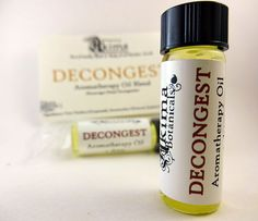 DECONGEST  Aromatherapy Oil Blend to encourage nasal decongestion by AkimaBotanicals, $3.00