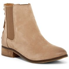 Aldo Boudinot Bootie (8045 RSD) ❤ liked on Polyvore featuring shoes, boots, ankle booties, medium brown, leather lace up boots, lace up ankle boots, leather ankle boots, aldo booties and brown ankle boots