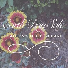 Earth Entwine Sale 25% off to celebrate Earth Day!!!