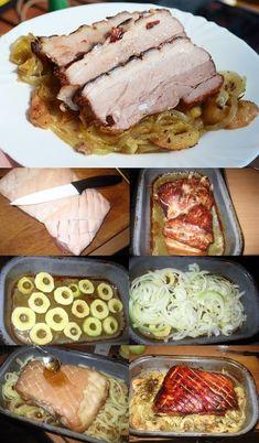 Pečený bůček s jablky a cibulí Jeden opravdu velice chutný recept pro milovníky vepřového masa! POTŘEBUJEME - 1 kg vepřový bůček s kůží - 3 ks jablk... - Dominik 'Eldorado' Horvath - Google+