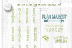 Bundle of Vintage Country Farm Designs for Wood Sign Stenciling - Cutting Files in SVG/DXF/EPS/PNG By Sparkal Designs