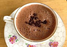 Minty Hot Chocolate with almond milk, raw cacao and loose leaf mint tea: Hot Chocolate With Almond Milk, Healthy Hot Chocolate, Hot Chocolate Recipes, Healthy Diet Recipes, Raw Food Recipes, Appetizer Recipes, Cooking Recipes, Healthy Eats, Appetizers
