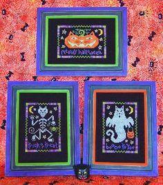 Meowy Halloween cross stitch designs