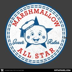 ''Marshmallow All Star'' by rbucchioni available today only, 7/28/17, at RIPT Apparel