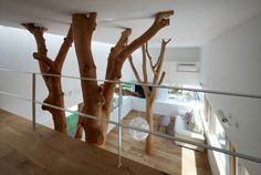 家の中に木が生えた!? 天然木を活かすインテリア
