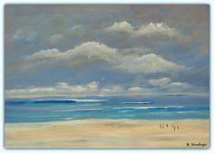 Acryl/Leinwand 50 cm x 70 cm x 1,5 cm Preis 370,- Euro  Am Strand 2