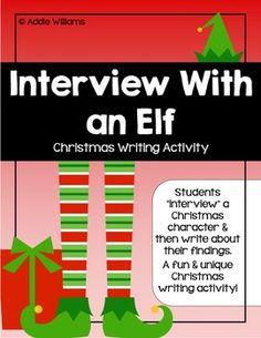 INTERVIEW WITH AN ELF - CHRISTMAS WRITING ACTIVITY - TeachersPayTeachers.com
