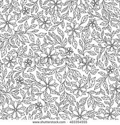 Pattern for coloring book. Ethnic, floral, retro, doodle, vector,  design…