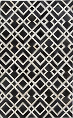 Trail TRL1130 Blacks AND Greys Hand Crafted Cow Hide Area Rug