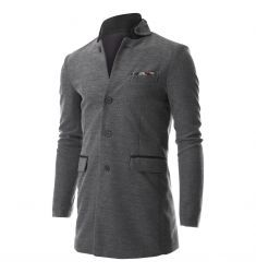 Men's Stand Up Point Collar 4 Button Casual Long Blazer Jacket with Handkerchief (BJ504)  #BLACKFRIDAY #CYBERMONDAY #MENS CLOTHING #MENS JACKET #MENS BLAZER #MENS SHIRTS #MENS COATS #MENS FASHION #FASHION FOR MEN #fashion mens blazer #mens blazer mensclothing #mens fashion  #blazer jacket #mens blazer