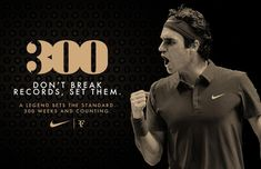 Impressive !! by Nike #tennis #legend #rogerfederer