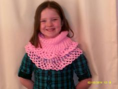Young girl's pink beaded cowl by cleancritters on Etsy, $22.00