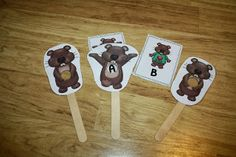 FREE!!  Groundhog's day focus wands.  Help students focus on specific letters or numbers. Differentiation Station Creations