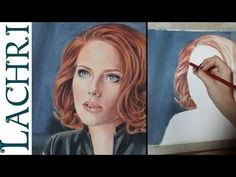 Speed Drawing Scarlett Johansson colored pencil fan art - Time Lapse Demo by Lachri - YouTube
