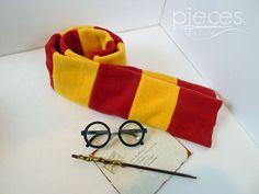 Harry Potter Scarves Gryffindor - Ready to Ship- Gryffindor, Slytherin, Ravenclaw, Hufflepuff - 60-in length - Fleece Hogwarts House Scarves