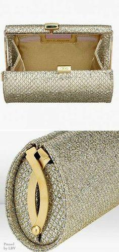Jimmy Choo Gold sparkle wedding clutch | LBV ♥✤ | BeStayBeautiful