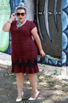 vestido flare plus size Vestidos Plus Size, Plus Size Dresses, Plus Size Outfits, Short African Dresses, Short Sleeve Dresses, Dresses With Sleeves, Plus Size Fashion For Women, Plus Fashion, Plus Size Summer Outfit
