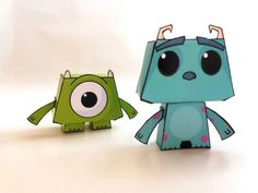 """""""Monsters, Inc"""" paper toys – Sullivan and Mike"""