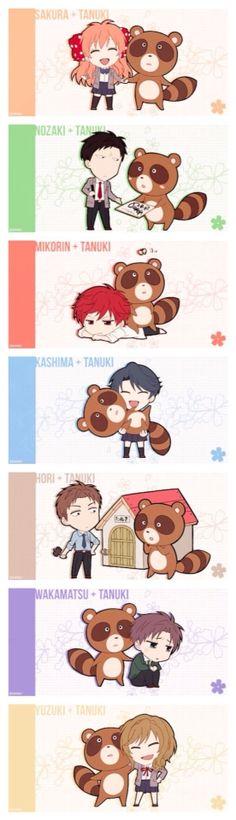 Todos con un Tanuki, Que tiernos!!!!