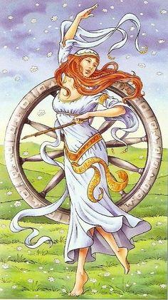 Universal Goddess Tarot -- Wheel of Fortune