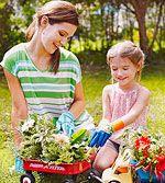 A Children's Garden: 7 Sunny Garden Crafts: Bumper Crop (via Parents.com) bottle cap wind chimes