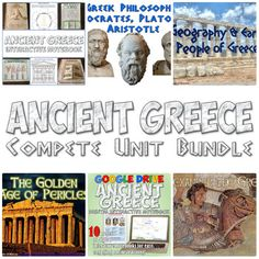 Ancient Greece Unit BundleThis is an amazing, time-saving bundle of over 30 teaching resources about Ancient Greece! It includes 7 fantastic PowerPoints, a foldable on Greek philosophers, a comic book project, readings, worksheets, a review crossword puzzle, two review games, and a complete unit test with 2 different versions!