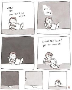 When you're mad at a book. By Noelle Stevenson via Ginger Haze