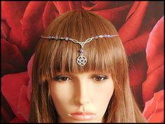 Your place to buy and sell all things handmade Wicca, Pagan, Hair Jewellery, Triquetra, Circlet, Amethyst Jewelry, Handfasting, How To Make Beads, Headdress