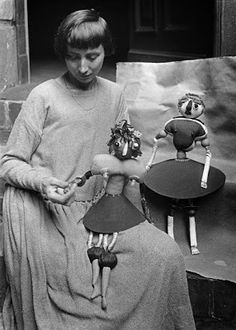 Hannah Höch and her puppets, 1920