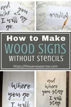 Cheap and Easy DIY Farmhouse Wood Signs - A Step-by-Step DIY Tutorial! - Easy DIY farmhouse wood signs on a budget! This is the best way to make cheap and easy wood signs - Diy Wood Signs, Rustic Wood Signs, Outdoor Wood Signs, Rustic Wood Crafts, Stencils For Wood Signs, Paint Wood Signs, Painting Signs On Wood, Stencil Letters On Wood, Small Wood Sign