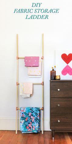 Pinned It, Made It, Loved It: DIY Blanket Ladder