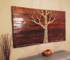 eco art: reclaimed pallet wood wall hanging - The Alternative Consumer