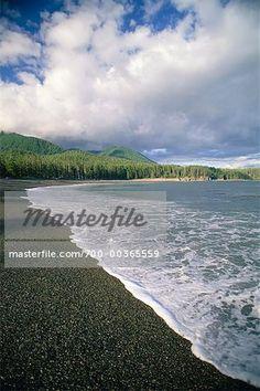 Beach, Beano Creek, Nootka Island, Vancouver Island, BC