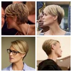 Robin Wright in House of Cards. Love her cut and look!  If I could pull off short hair like this I would do it.