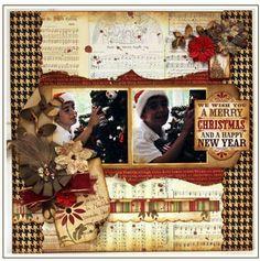 vintage christmas scrapbooking | Vintage styled christmas scrapbook layout | Scrapbooking Layouts