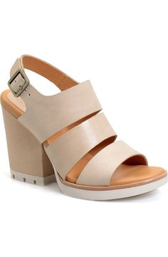 5e0d6ef1834e4 Free shipping and returns on Kork-Ease®  Lenny  Block Heel Sandal (Women)  at Nordstrom.com. A signature cushioned footbed with supple calfskin  leather ...