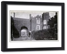 inch mm) wooden frame with digital mat and print (other products available) - Richmond Palace, Richmond, London, County of London, England. Date: - Image supplied by Mary Evans Prints Online - Framed Print made in the USA Richmond Palace, Richmond London, Wooden Frames, Online Printing, Photo Gifts, Framed Prints, Australia, Wall Art, Canvas