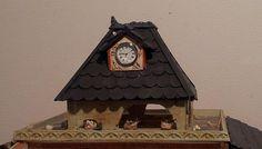 Detalle del palomar con reloj (escala 1:12) by dodo Arts and Crafts, via Flickr