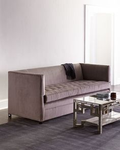 Strauss Sofa by Old Hickory Tannery at Neiman Marcus.