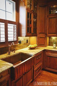 copper sink love!