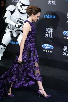Daisy Ridley at the Shangai Premiere of TFA