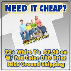 Custom T Shirts and Screen Printing   Design your own Custom T-Shirts - InstaShirt.com   Screen Print-Cheap T-Shirt Printing-InstaShirt - Design Full Color Custom T-Shirts #Custom-Colored-T-Shirt-Printing