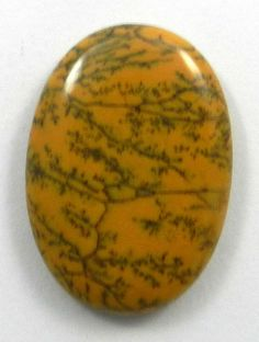23.55Cts NATURAL YELLOW DENDRITIC OPAL 21X30MM OVAL CAB JEWELRY MAKING GEMSTONE #magicalcollection #gemstone #Opal #dendritic #jewelrygemsrone
