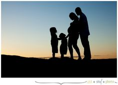 Family and maternity silhouette
