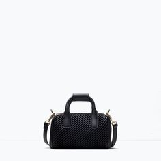 Image 1 of QUILTED MINI BOWLING BAG from Zara