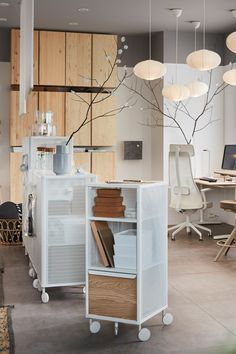 Office Space Design, Office Interior Design, Office Interiors, Ikea Bekant, Home Office, Desk Organization, Small Spaces, Living Spaces, House Design
