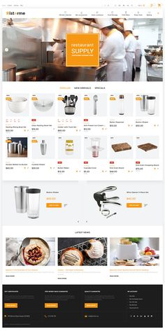 Want to breathe a new life into your online store? Grab Cookware PrestaShop Template, with a fully editable color scheme, Ajax search, TM Media Parallax, detailed documentation and lifetime support service. Webpage Layout, Web Design, Design Ideas, Ecommerce Template, Website Themes, Website Designs, Restaurant Equipment, Custom Fonts, Create Website