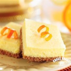 Citrus Bars from Eagle Brand® Sweetened Condensed Milk are a tasty Easter treat. From the graham cracker crust to the sweet tang of lemon and orange, the yummy treats are a little taste of sunshine.